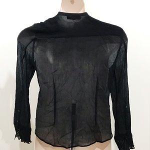 Emanuel Ungaro Tops - Emanuel Size L Black Silk Blouse Elegant Classic